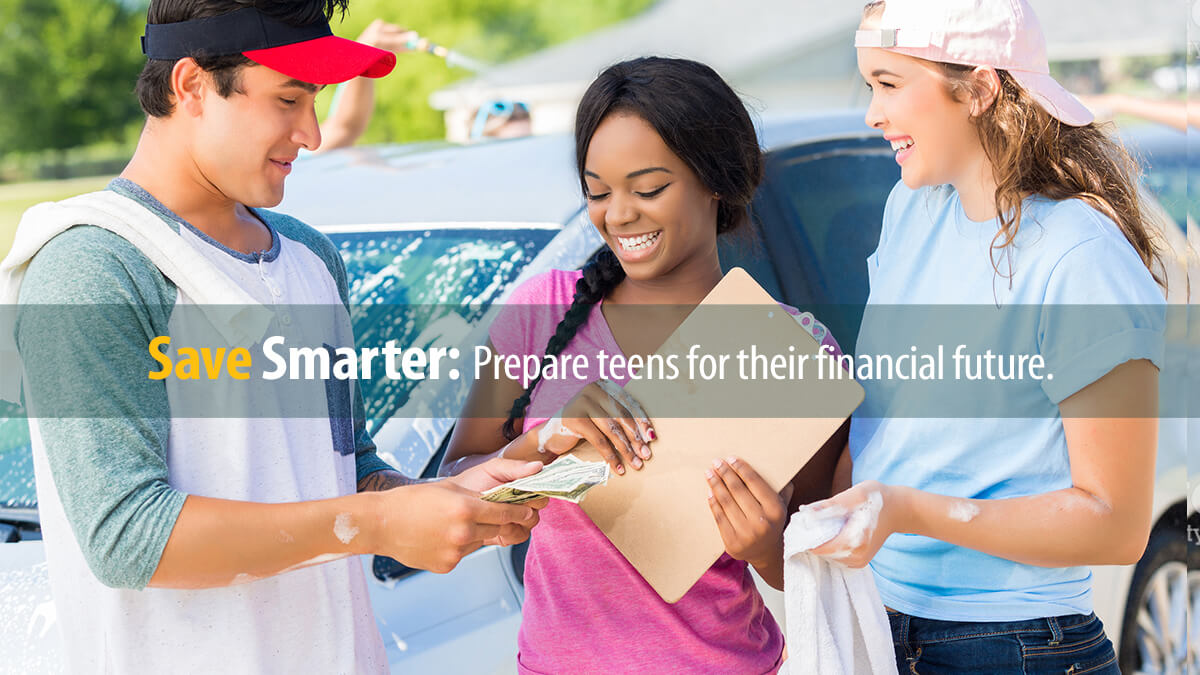 Three teens learn the value of saving and earning money with a car washing business.